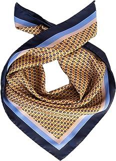"""Elizabetta Men's Italian Silk Neckerchief Scarf, Large Bandana, 26"""""""