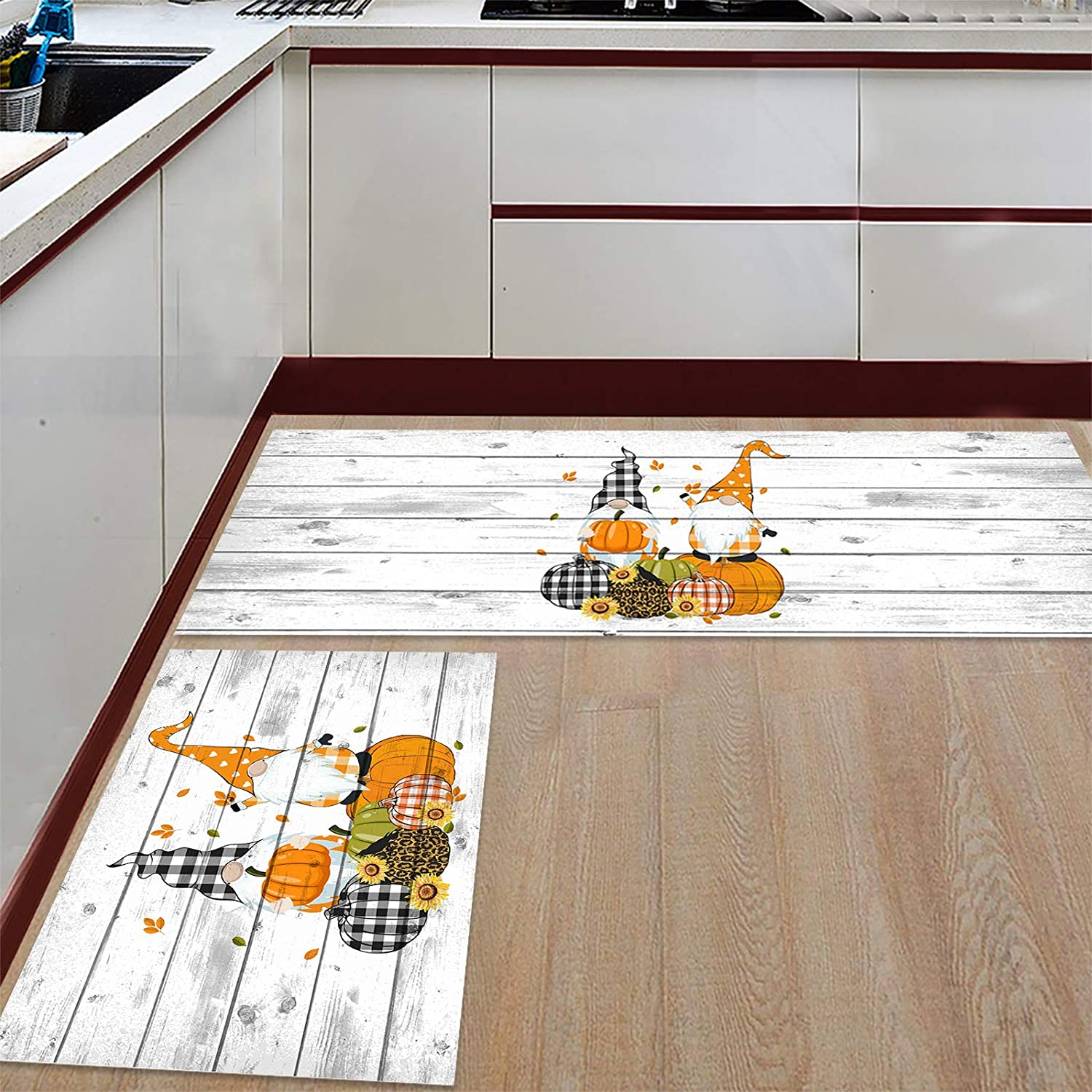 Kitchen Rugs and Mats Set of 2 Runner Comfort Ranking Sales TOP8 Cushioned for Mat
