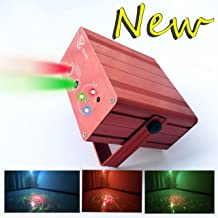 3D Graphics Laser Light 5Light Source 5V 2A Control Background Color With IR Remote Control Voice Activated Stage Lamp Projector Lamp Lumiere DJ Club Party Live Show Projector square