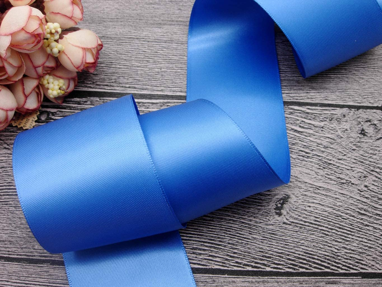 25 Yards WB350-25 Double Sided Satin Ribbon Roll Silver,Red,Royal Blue,Navy Blue,Purple,Vanilla 3//8,1,2 Wide Royal Blue, 1 x 25 Yard