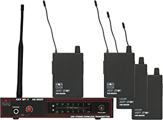 $549 Get Galaxy Audio AS-900-4 Band Pack Wireless In-Ear Monitor System, Code N1 (514.4 MHz)