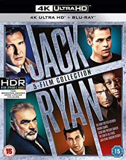 The Hunt for Red October/Patriot Games/Clear and Present Danger/Sum of All Fears/Shadow Recruit-4K Uhd (10 Blu-Ray) [Edizi...