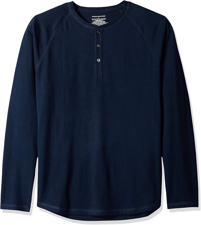 Camiseta de manga larga con corte recto y cuello panadero para hombre Essentials