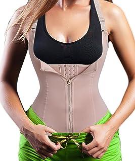 Women's Underbust Corset Waist Trainer Cincher Steel Boned Body Shaper Vest with..