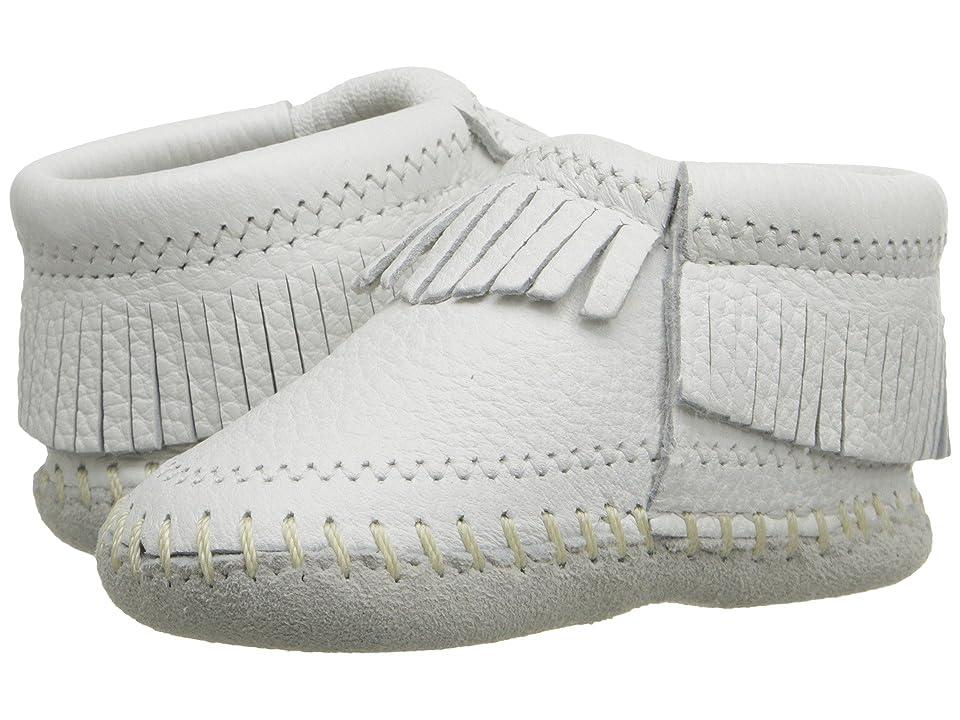 Minnetonka Kids Riley Bootie (Infant/Toddler) (White) Girls Shoes