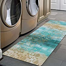 "Pauwer Non Slip Runner Rug Waterproof Natural Rubber Kitchen Runner Laundry Room Floor Mat Doormat Entrance Rug (20""x48"", ..."