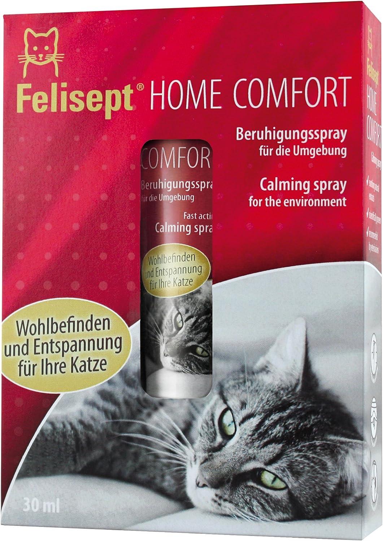 Felisept Home Comfort – Spray calmante 30 ml – con Menta gatera Natural – Relajante, calmante para Gatos – Recomendado por Veterinarios – Bienestar y relajación para Gatos