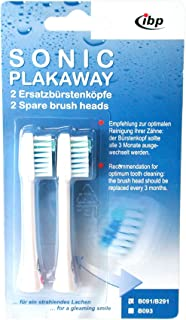 Sonic Plakaway Spare Toothbrush Heads for B091, B191 duo and B291 by SONIC PLAKAWAY