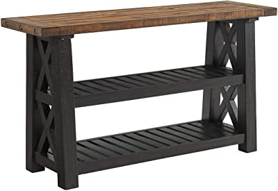 Martin Svensson Home, Sofa Console Table, Black Stain and Natural
