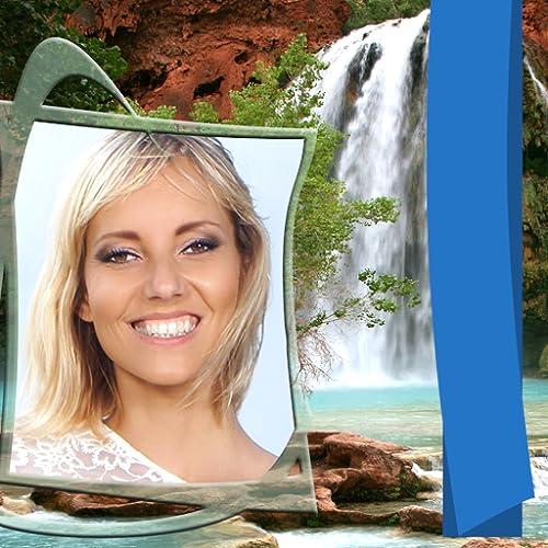 Schöne Wasserfallrahmen