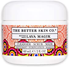 The Better Skin Co. | Lava Magik - A Face Cleanser/ Face Scrub With French Volcanic Lava That is Pore Cleansing, Blackhead Reducing, Skin Tightening
