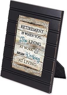 Elanze Designs Retirement Congratulations Black 8 x 10 Beaded Board Picture Frame Plaque