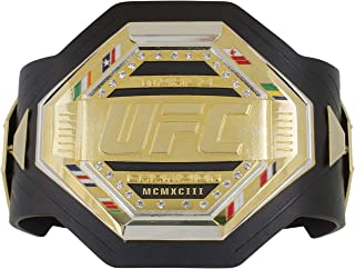 UFC Mens Legacy Belt Desktop Plaque, Black/Gold/Silver, One Size