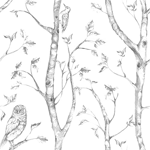 NuWallpaper Wall Pops NU1412 Gray Woods Peel and Stick Peel & Stick Wallpaper