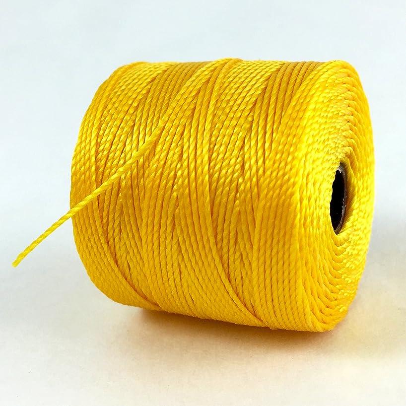 S-Lon Superlon Twisted Nylon Bead Cord 77 Yard Spool Golden Yellow
