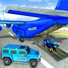 US Police Plane Hummer Car Driving Game