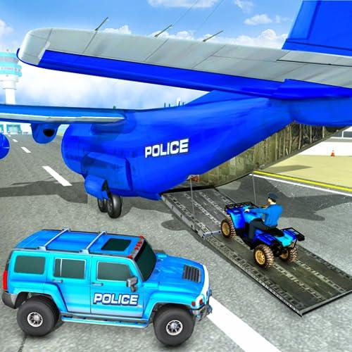 US-Polizei Flugzeug Hummer Auto fahren Spiel