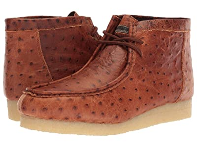 Roper Gum Sticker Ostrich (Cognac Embossed Ostrich) Men