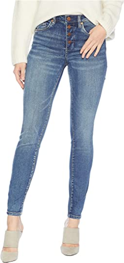 10d1419040c The Great Jones Denim High-Rise Skinny in Vendetta