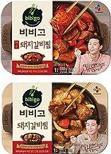 Cj Bibigo Korean Pre-made Packaged Food Pork Galbi-jjim, Slow Cooker Soy Sauce Pork Stew, Spicy Sauce Pork Stew 180gram (pack of 2) 비비고 돼지 갈비찜