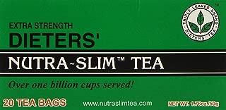 Extra Strength Dieters' Nutra-Slim Tea Triple Leaves Brand - 20 Tea Bags