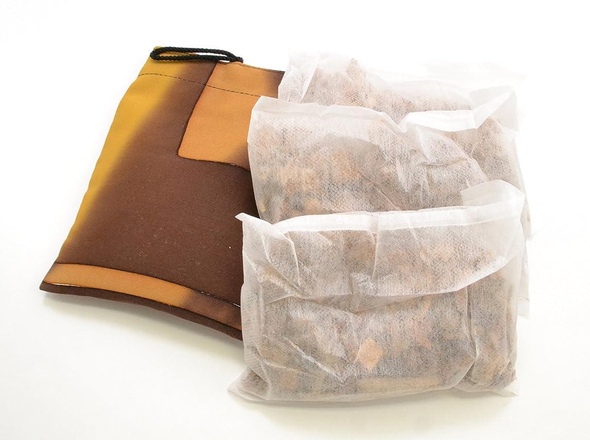 磁石在庫メディック楠の香【楠のチップ】手作り巾着袋付き(楠チップ4袋+巾着袋1個)