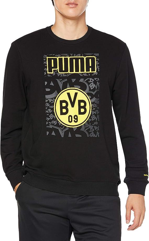 PUMA BVB Ftblcore Graphic Crew Sweat Sudadera Hombre