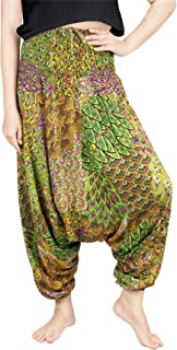 Yoga Harem Pants for Women Boho Hippie Bohemian Aladdin Baggy Jumpsuit