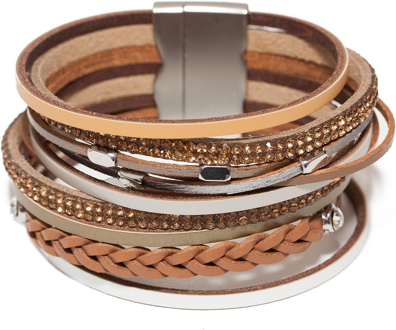 Amanda Blu Genuine Leather Cuff Bracelet