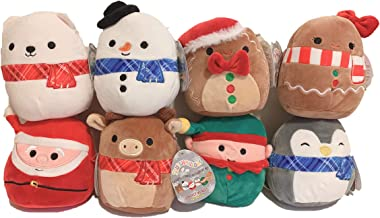 "Squishmallow Kellytoy 2019 Christmas Set of 8 Mini 5"" Plush Dolls Toy"