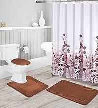 Luxury Home Collection 16 Piece Embossed Memory Foam Non-Slip Bathroom Rug Set Includes Bath Rug Mat, Contour Mat, Toilet ...