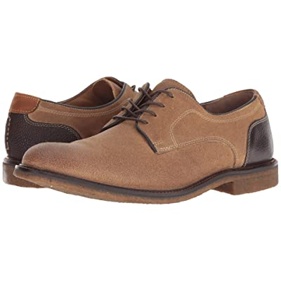 Johnston & Murphy Copeland Plain Toe (Taupe Water-Resistant Oiled Suede) Men