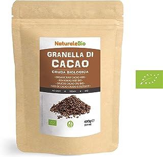 Nibs de Cacao Crudo Ecológico 400 g. 100 % Puntas de Cacao
