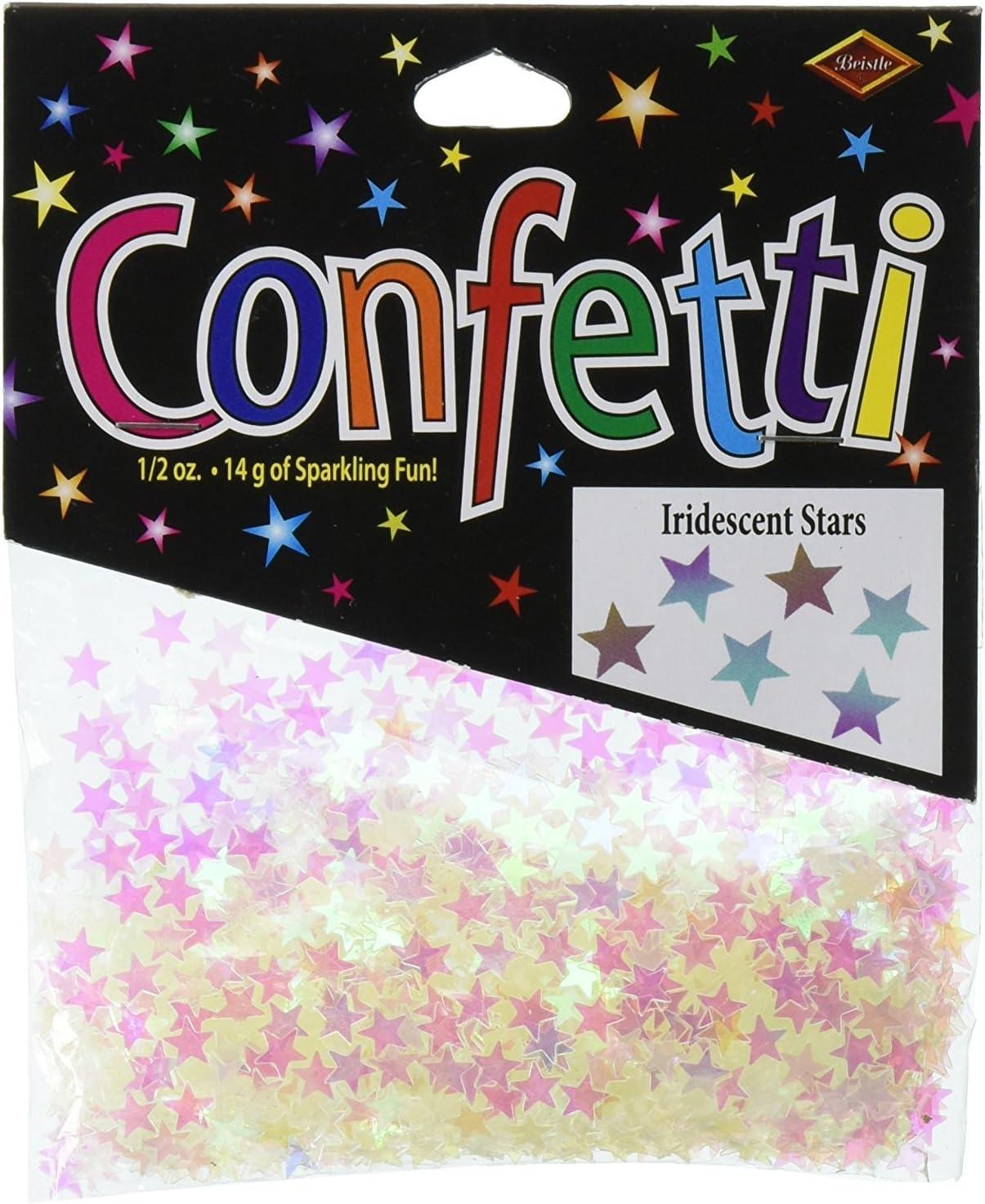 25 15 piece LARGE iridescent star  confetti 20 mm