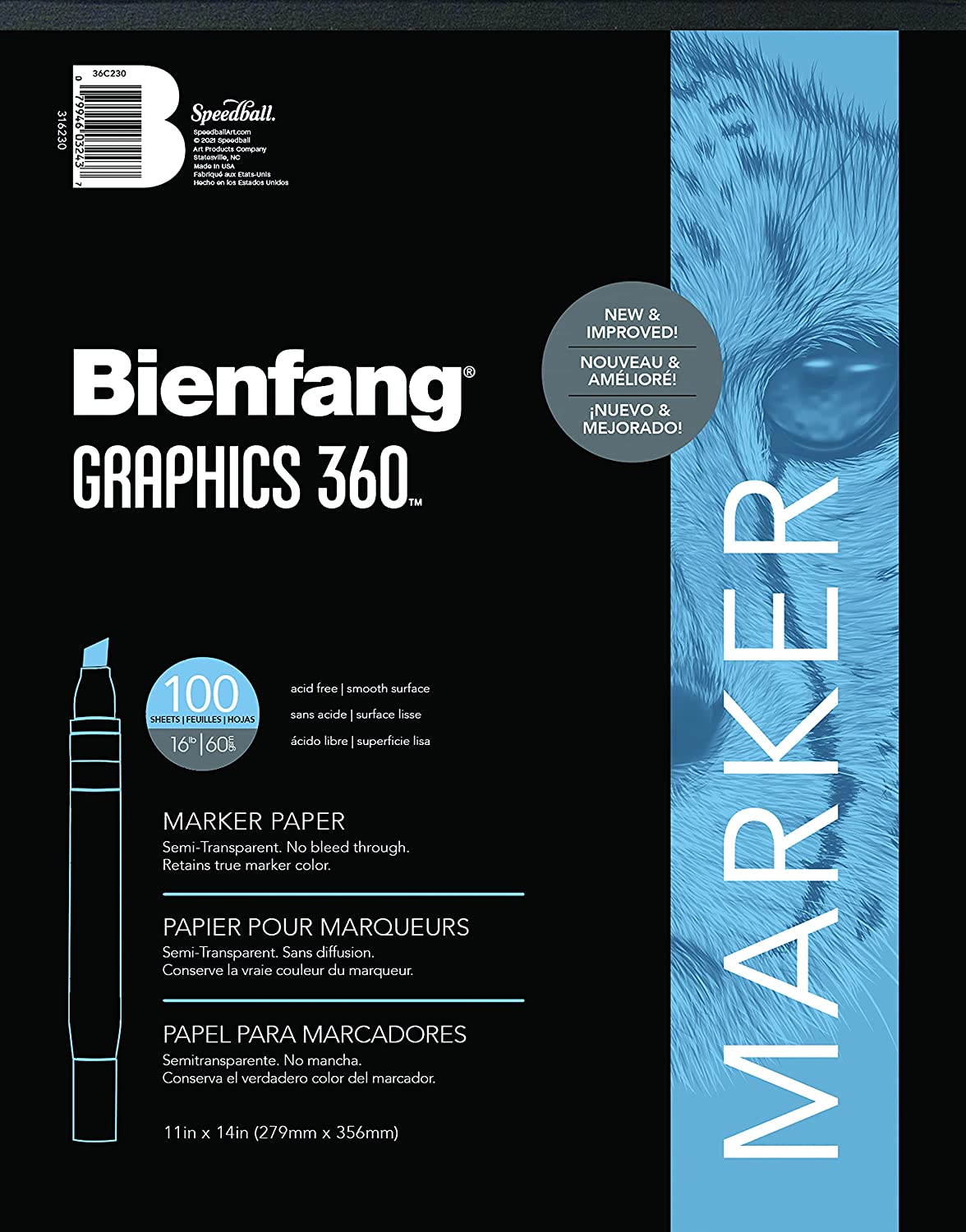 Oklahoma City Mall Bienfang Graphics Indianapolis Mall 360 Marker Paper Pad 11-Inch by 14-Inch 100