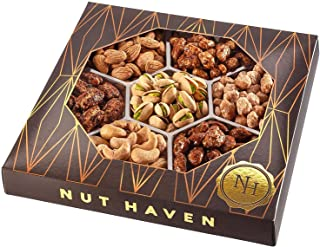 Nuts Gift Basket - Healthy Assortment of Sweet & Salty Dry Roasted Gourmet Nuts - Assorted Food Gift Box for Holiday Chris...