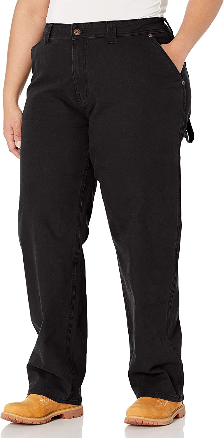 Dickies Women's Plus Size Relaxed Straight Carpenter Duck Pant