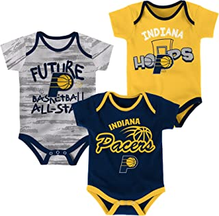 Outerstuff NBA Newborn NBA Newborn & Infant 3 Piece Onesie Set