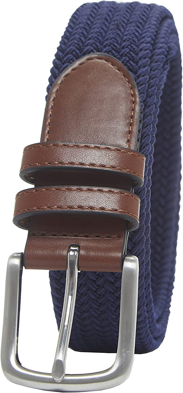 Amazon Essentials Men's Stretch Woven Braid Belt