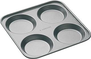 "Kitchencraft Masterclass Non Stick 4 Hole Yorkshire Pudding Tart Tin Pan, 24cm / 9.5"""