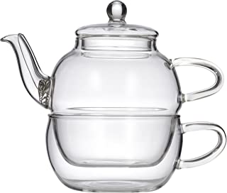 LEAF & BEAN D8019 Chrysanthemum Tea for One, Clear Glass