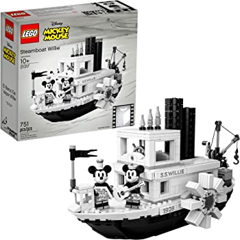 LEGO Ideas 21317 Mickey Mouse, Disney Steamboat Willie (751 pieza)