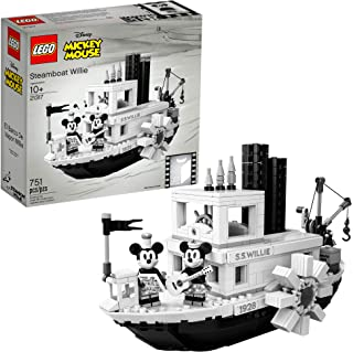 LEGO Ideas 21317 Disney Steamboat Willie Building Kit...