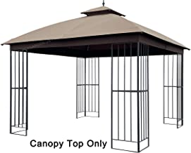 APEX GARDEN Canopy Top for Garden Treasures 10 ft x 10 ft Brown Metal Square Semi- Gazebo Model #L-GZ038PST-F (Top Only)