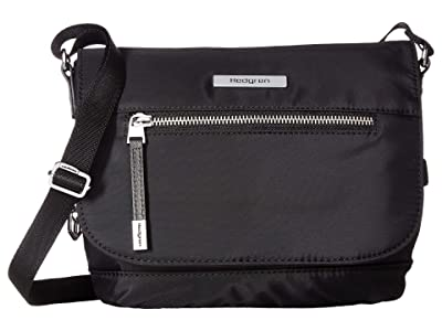 Hedgren Shimmer RFID Crossbody with Flap (Black) Cross Body Handbags