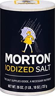 Morton Salt, Iodized, 26 Ounce