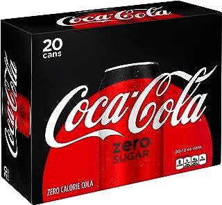 Coke Zero Sugar Diet Soda Soft Drink, 12 fl oz, 20 Pack