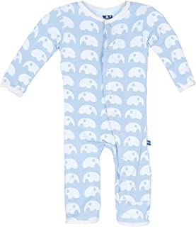 Kickee Pants Essentials Fitted Coverall Pond Elephant with Snaps (6-9 months)