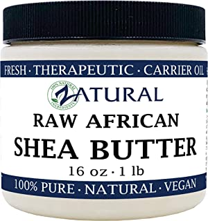 Raw Shea Butter-100% Pure, Virgin, Unrefined, Raw Ivory Shea Butter from NakedOil (16 Ounce)
