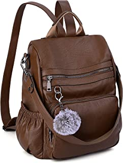 Anti-Theft Convertible Backpack Purse for Women UTO 3 Ways Rucksack PU Leather Shoulder Bag